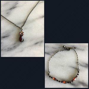 Avon Dazzling Dainty Necklace & Bracelet Set